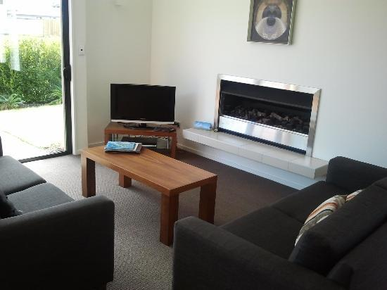 The Fairways: Lounge with Gas Fire
