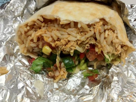 Neato Burrito: mostly rice, not much cheese or meat