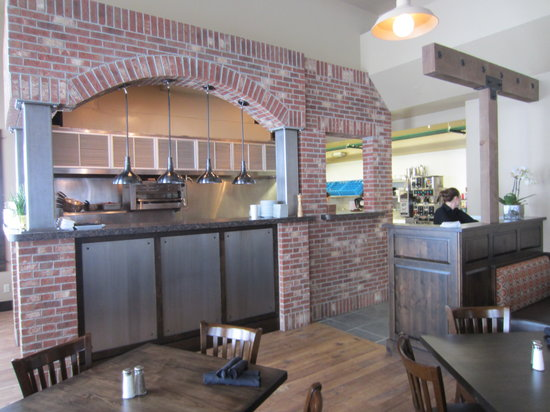 Olive B's Big Sky Bistro : Olive B's open kitchen