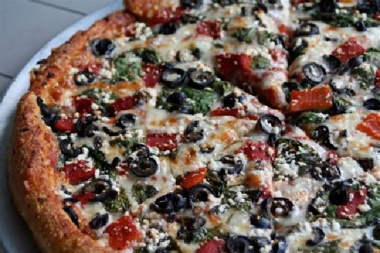 Christos' Pizza & Pasta : Greek Special - Closeup