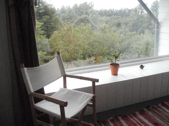 Bambu Lodge: Fantastica vista al jardin desde la habitacion