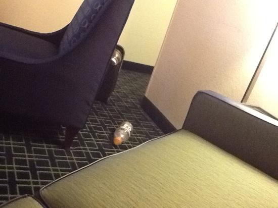 Fairfield Inn & Suites Omaha Downtown: clean under the furniture please!!