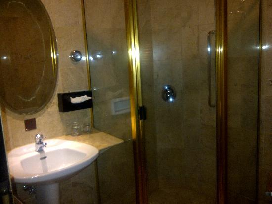 Jakarta Airport Hotel: small bathroom but clean