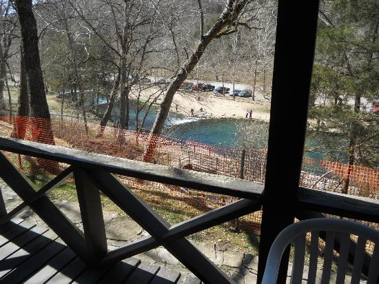 Roaring River State Park : the view from the cabin