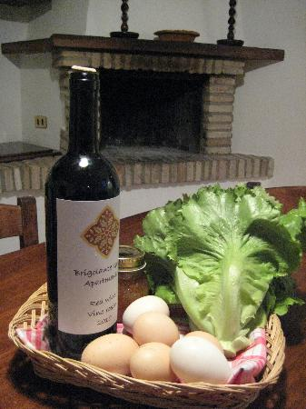 Brigolante Guest Apartments: Our welcome basket...