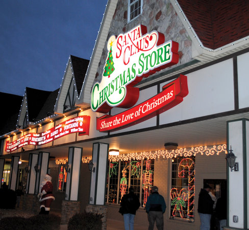 Exterior of the Santa Claus Christmas Store