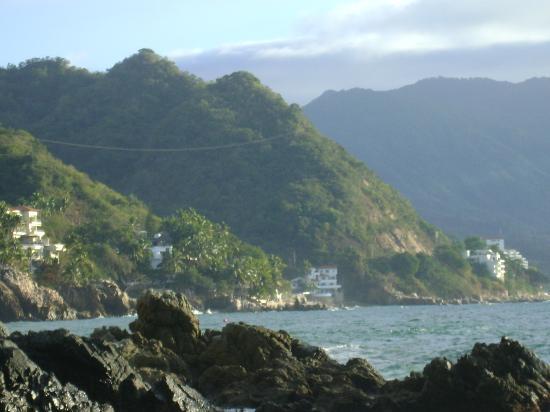 Playa Conchas Chinas Hotel: vista desde el hotel