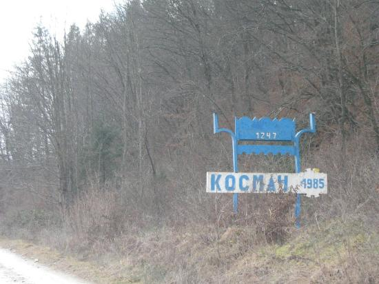 Entrance to the village of Kosmach