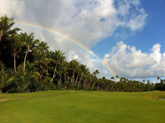 The St. Regis Bahia Beach Resort: Somewhere on the greens today.