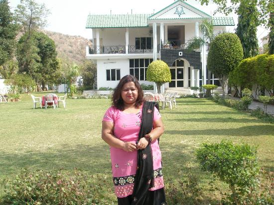 Amrit Resort: PAYEL WITH THE RESORT AT BACKGROUND