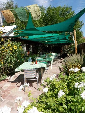 Eklecticafe: The Eklecktica garden has a water feature and chirpy birds, lovely.