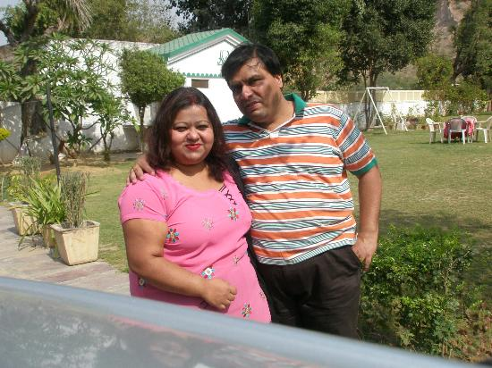 Amrit Resort: ME AND PAYEL AT THE HOTEL LAWN