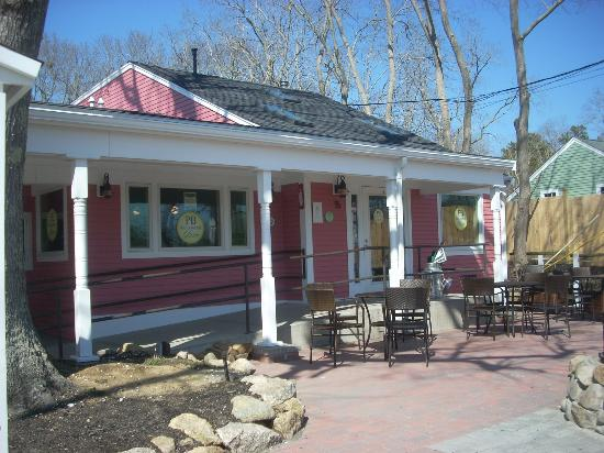 PB Boulangerie Bistro is pink...you can't miss it.