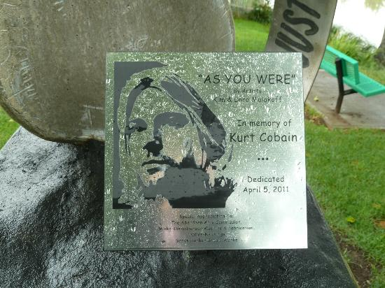 Kurt Cobain Memorial Park: In Memory of Kurt Cobain...