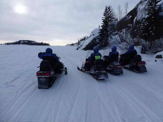 Yellowknife Outdoor Adventures: Frozen lake