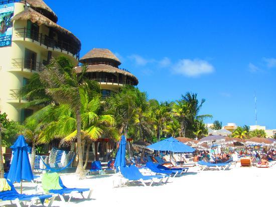 El Taj Oceanfront & Beachside Condos Hotel : Taken from the beach