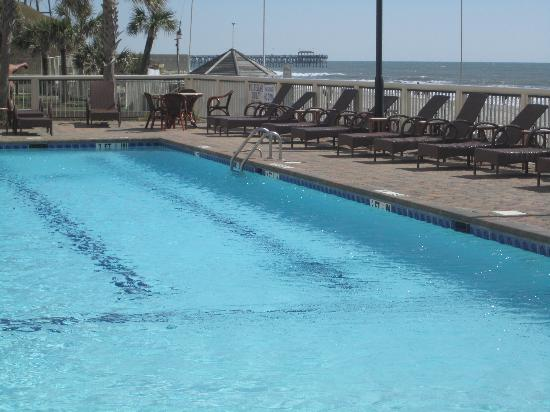 Westgate Myrtle Beach Oceanfront Resort: one of the pools with chairs to lounge in...