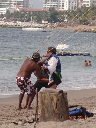 Hacienda Buenaventura Hotel & Mexican Charm All Inclusive: first time parasailing