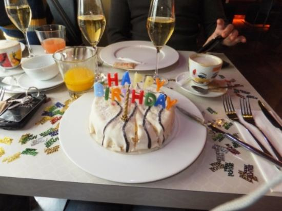 Birthday cake and champagne picture of design hotel for Design hotel jewel prague tripadvisor