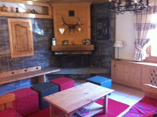 Alte Neve Chalet Hotel: le salon -cheminée