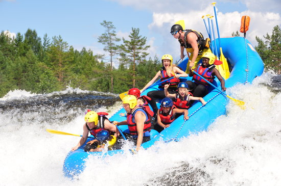 Evje, Noruega: Rafting trips twice a day all summer long