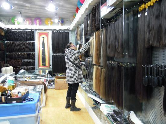 One of the hair extension shops picture of shiji tian ding shiji tian ding shopping mall one of the hair extension shops pmusecretfo Gallery