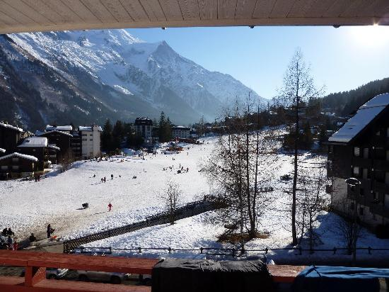 La Sapiniere: View from our Balcony across the Nursery Slopes