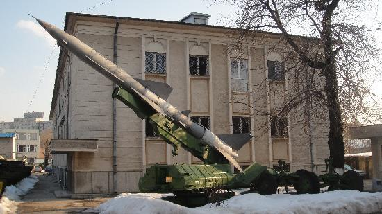 National Military Museum Bucharest: missle launcher at the Military Museum