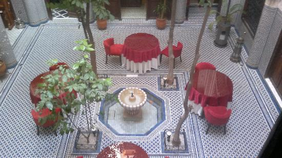 Ryad Alya: View from our room - the courtyard with orange trees