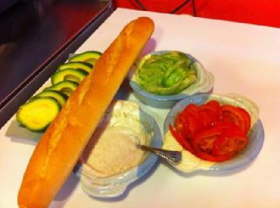 Amanda's Coffee & Tea: A delicious avocado baguette in the making