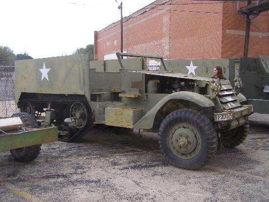 12th Armored Museum: Halftrack in the process of being restored