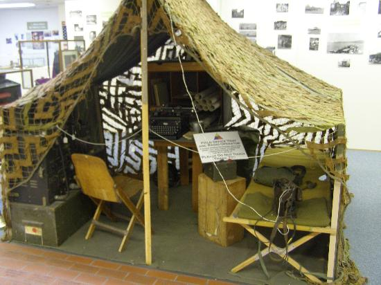 12th Armored Museum: Command post tent installation