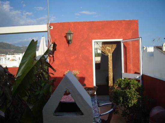 Hostal Plaza Cantarero: roof terrace