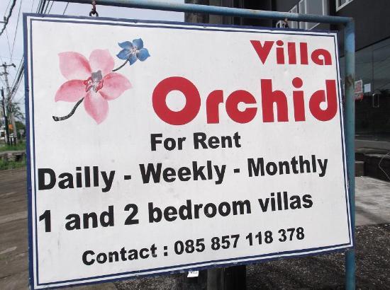 Villa Orchid Bali: Sign