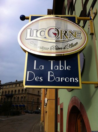 La Table des Barons: Licorne (Unicorn) is the local beer
