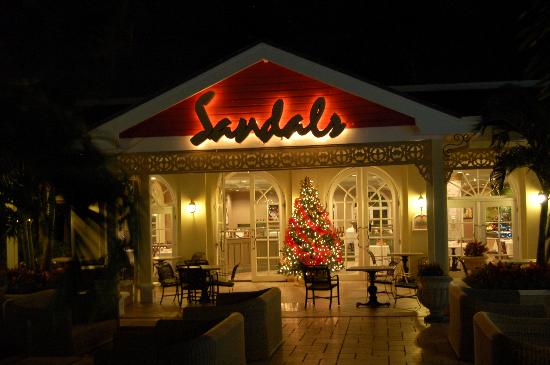 Christmas decorations with tree restaurant picture of