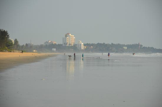Asokam Beach Resort: On the beach: Looking towards Kannur