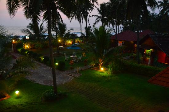 Asokam Beach Resort: Night shot