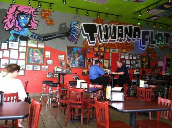 Tijuana Flats: Inside Dinning Area