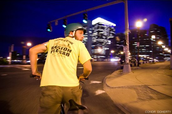 Boston Pedicab Tours : Boston Pedicab At Night