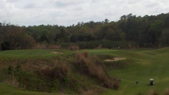 Brooksville Country Club: # 12 Quarry hole, take the high road (left) or the low road (right)