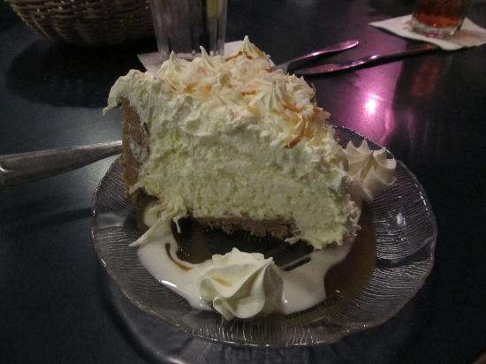 Kitty Hawk, NC: A thick slice of coconut cream pie