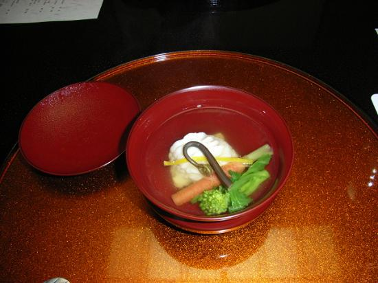 Ichiitei : Clear soup with spring vegetables