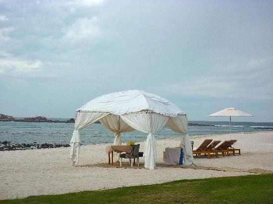 The St. Regis Punta Mita Resort: Beach is usually uncrowded, but quite rocky.