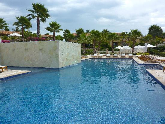 The St. Regis Punta Mita Resort: There are three distinct pool areas. . .the adult pool here was unwelcomingly cold.