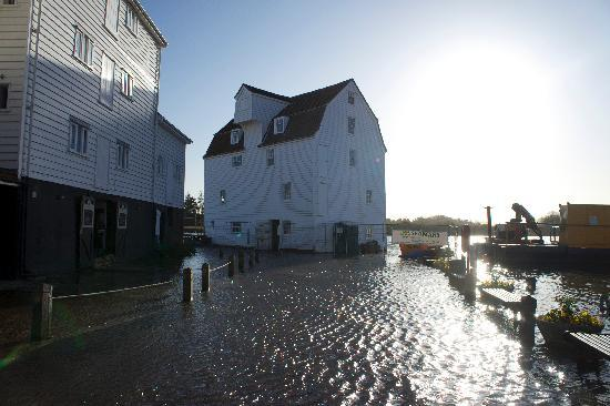 the waterfront cafe: A very high Tide!