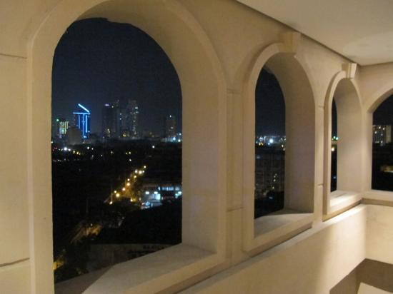 The Bayleaf Intramuros: View outside the window, by night