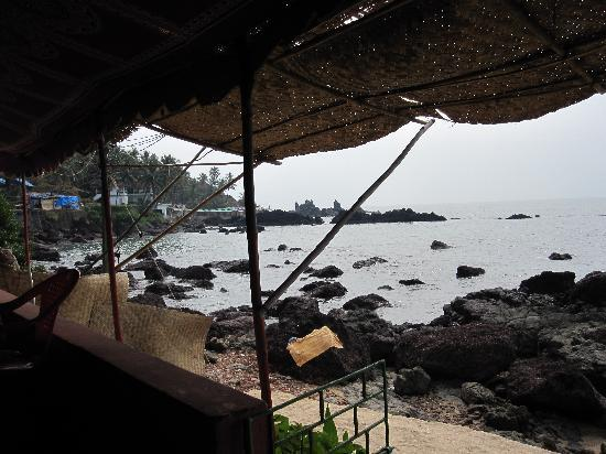 Arambol Beach: View from restaurant