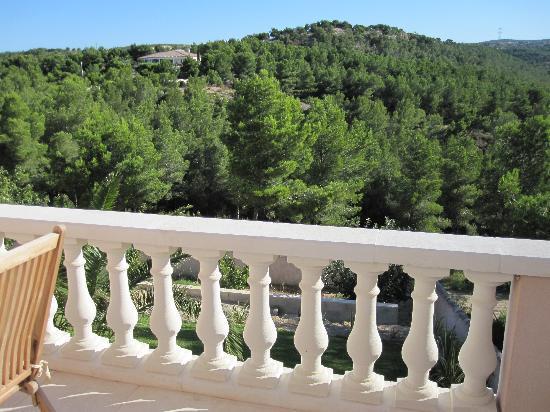 La Palmeraie des Calanques: vue de notre terrasse de la chambre