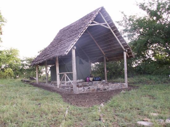 Kondoa Rock-Art Sites: Our tent at Amarula Campsite